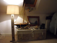 Handmade Driftwood lamps in Cornwall