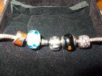 (Genuine) Pandora Necklace & (4) (Charms) Loook***