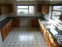 Complete Black Granite Kitchen Worktop, sink and hob