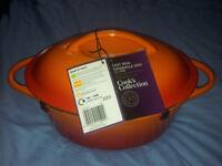 Sainsburys cast iron casserole dish 2.6 Litre **brand new**