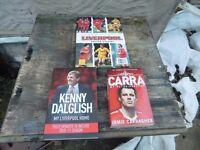 3 LIVERPOOL FC BOOKS £10 THE LOT