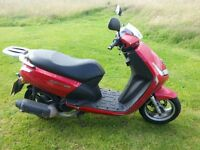 Peugeot Vivacity 125 cc, Long mot, great tyres,has scuffs on both sides of the fairing
