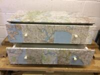 Decoupage Two drawer chest