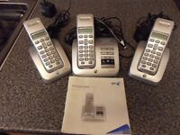 BT STUDIO TELEPHONES INCLUDING ANSWER PHONE