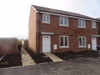 3 bedroom semi house to let, large garden, less than 2 years old, Norton Fitzwarren