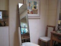 Stylish Full-Length or Long Strip Mirror, Art Deco - 122 cm x 30 cm - Excellent Condition 2
