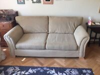 Lovely deep 3 seater stone colour sofa in excellent condition