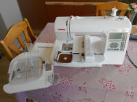 Janome MC200E Embroidery Machine - good condition in Haverfordwest