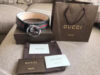 Genuine New Mens Gucci Belt Black ! Unwanted Gift £125