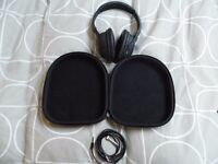 these are genuine noise cancelling and work perfect like new with case and 3.5mm lead