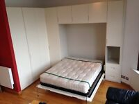 Ingenious Murphy Bed with huge wardrobe