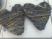 Two lavender hearts for sale