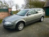 VW Passat Estate 1.9 TDI, 2003, 143,000 miles, grey - lovely drive, great car! MOT'd until July 17