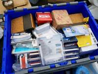 A very mixed job lot of new Electrical & plumbing Contractors supplies.