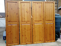 Pine Wardbrobe Doors