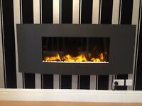 Gazco electric studio 2 verve electric fire 6ft by 3ft