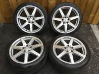 18'' GENUINE MERCEDES C CLASS W204 SPORT PLUS 7 SPOKE AMG ALLOY WHEELS TYRES ALLOYS 5X112