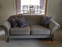 Large 3 seater designer sofa. Neutral Pebble colour. Immaculate like new condition