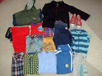 Bundle of Boy's clothes, jackets and trainers - suit age 4 - 5 years