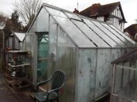 15ftx10ftx9ft greenhouse,complete with base kit and all glass,