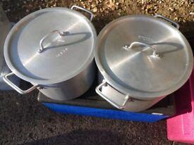 Two Vogue Deep Boiling Pot Aluminium - 15.05Ltr