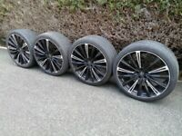 JUST REDUCED -expensive(RRP £1,700.00) 22 inch 5/108 HAWKE alloywheels for range rover-NOW ONLY £480
