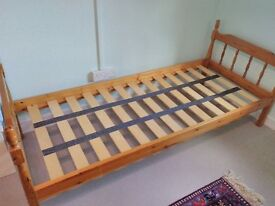 Small single bed for sale. Wood. Good condition.