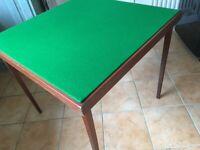 Bridge card table