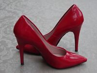 Dune dark red patent stiletto shoes. Worn only a few times. Size 36
