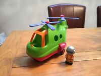 Happyland Helicopter and Pilot