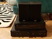 Sony CD Player with Cambridge special edition amplifier and speakers