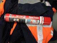 9 CANS Fischer Fire Stop Hand Foam B1