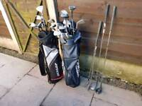 Taylor Made and Wilson Golf Clubs