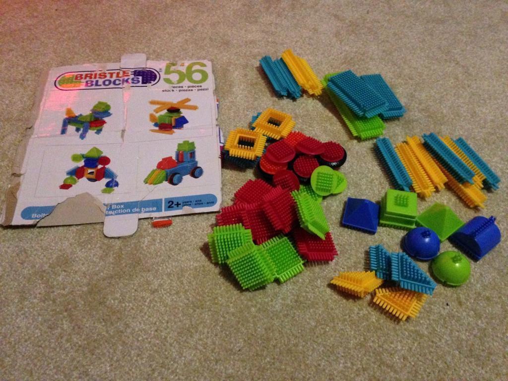 56 pieces of bristle blocks.