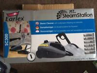 Earlex steam station sc300. Steam cleaner with wallpaper stripping accessories