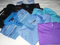 selection of mens golf polo shirts