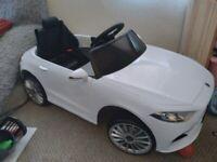 Kids Electric Car. White Mercedes. Ride on car