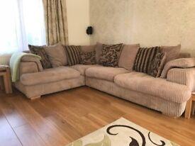 Corner Sofa Bed DFS Celine in Mink and Mocha