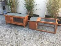 Rabbit Run and Rabbit Hutch Set, As New!! Bargain