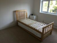3ft Single Solid Wood Guest Bed/Trundle - Excellent Condition!