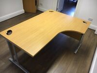 Professional Office Desks - Corner L Shaped with Beech Finish - RRP £160
