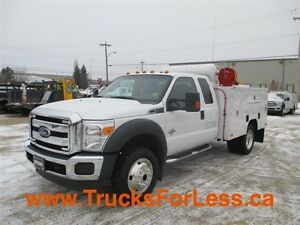 2014 ford F-550 XLT 4X4, 9 Ft ALUM. BODY + VMAC!!!