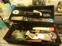 LARGE SEA FISHING BOX AND TACKLE