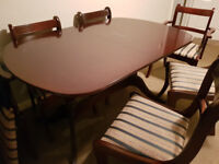 Mahogany Dining Table and Chairs.
