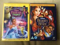 Children's Disney DVDs. Princes and the From, Beauty and the Beast.