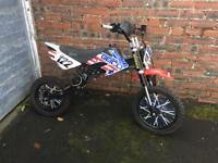 Pit bike rolling chassis