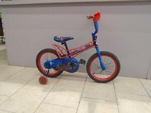 "Vélo enfant Huffy Spiderman - Roues 16"" - 0719-4"