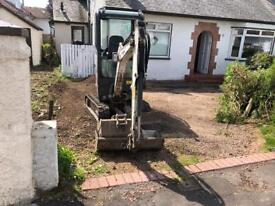 Atlas mini digger hire with operator