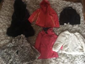 6 X girls coats - all excellent condition