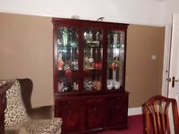 Beautiful mahogany display cabinate